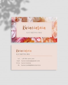 BUSINESS CARDS FOR FLORIST...