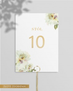 TABLE NUMBERS M01-011