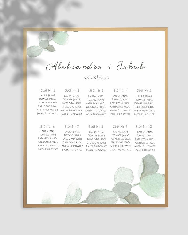 WEDDING TABLE PLAN M01-004