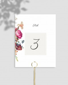 TABLE NUMBERS M01-001