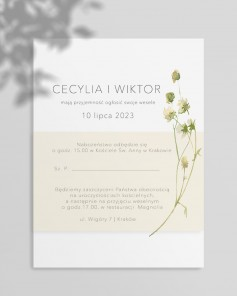 WEDDING INVITATIONS M01-012
