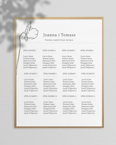 WEDDING TABLE PLAN M02-005
