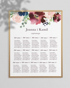 WEDDING TABLE PLAN M01-010