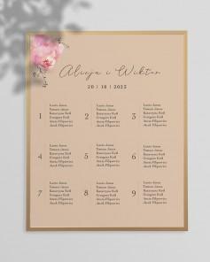 WEDDING TABLE PLAN M01-013