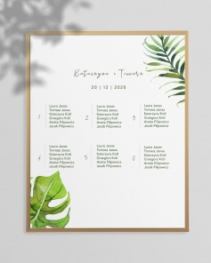 WEDDING TABLE PLAN M02-004